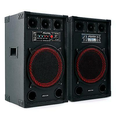 Aktiv PA DJ Lautsprecher Passiv Bass Box Set Sound System Subwoofer USB SD 800W