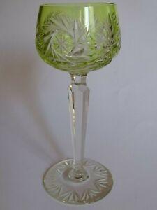 1 Ancien Verre A Vin De Couleur Roemer Ht 19,5 Cm Jaune Doux Et LéGer