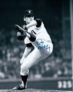Denny-McLain-Signed-8X10-Photo-Autograph-Tigers-Leg-in-Air-B-W-Auto-COA