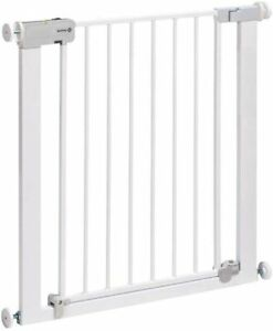 Auto-Close Metal Gate Safety Gate White stair Gate adjust to fit 73 cm to 80 cm