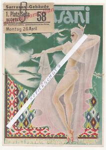 Seltenes-Circus-Sarrasani-Program-Place-Card-To-1935-Kurt-Hilscher-Dresden