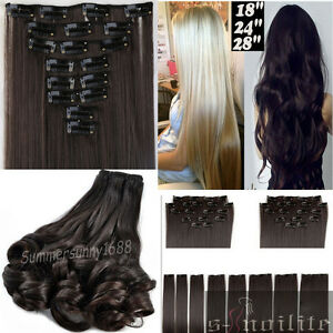 Clearance sale clip in hair extensions full head heat resistant image is loading clearance sale clip in hair extensions full head pmusecretfo Gallery