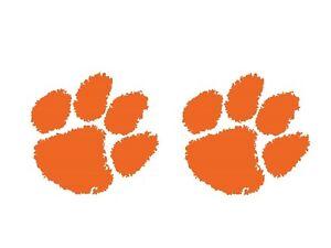 Clemson Daddy/'s little fan bodysuit; orange paw print;