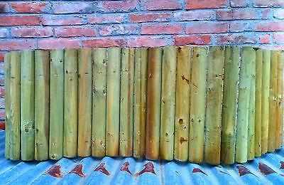 Mini steccato bordura per aiuole, rollborder in legno impregnato arredo giardino