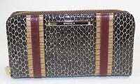 ❤️nwt Brahmin Suri Brown Rooksbury Zip Around Genuine Leather Wallet G3794600032