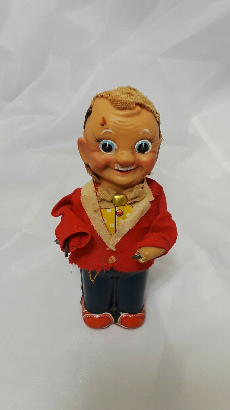 Wind up Tin Toy Made in Japan Circa 1950's 7  Tall