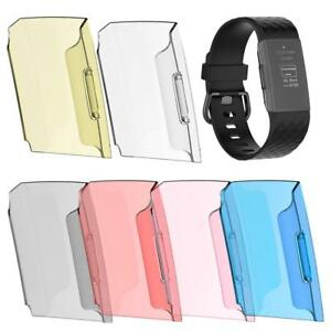 For-Fitbit-Charge-3-Transparent-PC-Screen-Full-Watches-Protector-Case-Skin-Cover