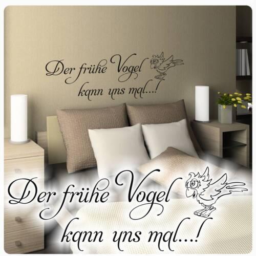 Lounge Schlafzimmer Küche Bad W1102 Wandtattoo Der frühe Vogel kann uns mal