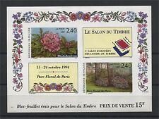 FRANCE, SOUVENIR SHEET FLOWERS (SALON DU TIMBRE) 1993 IMPERFORATED MNH