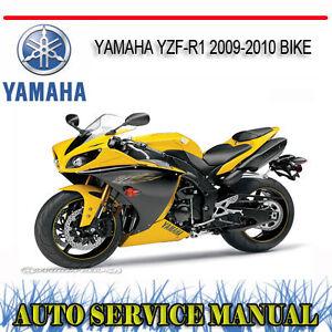 yamaha yzf r1 2009 2010 bike service repair manual dvd ebay rh ebay com au 2009 yamaha r1 owner's manual pdf 2009 yamaha yzf r1 service manual