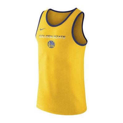Nike Nba Golden State Warriors Tank Top Neu Herren Gelb Blau Weiß 870446-728 Shrink-Proof Activewear Clothing, Shoes & Accessories