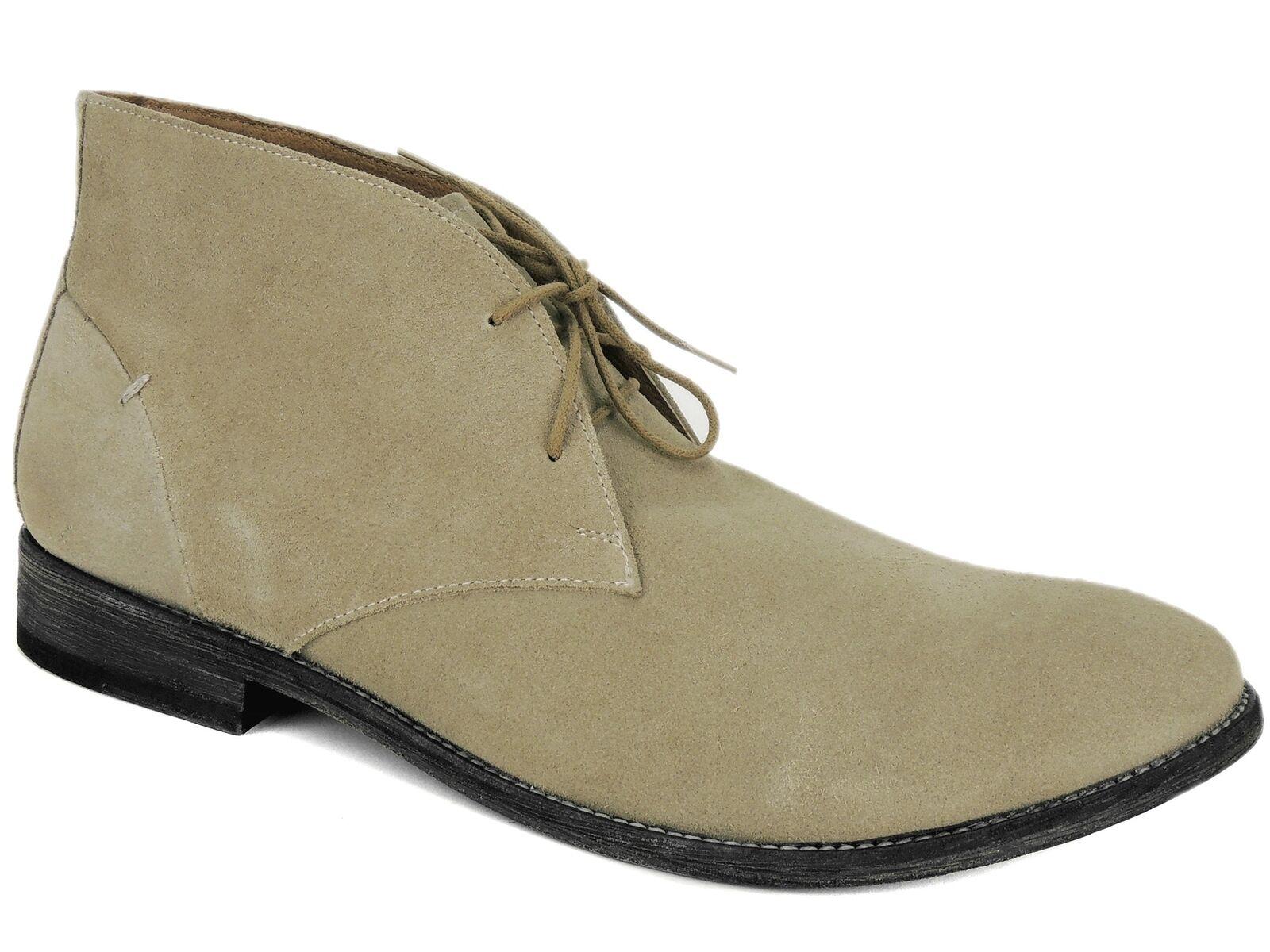 JD Fisk Men's Cormac Chukka Laceup Boots Khaki Suede Size 12 M