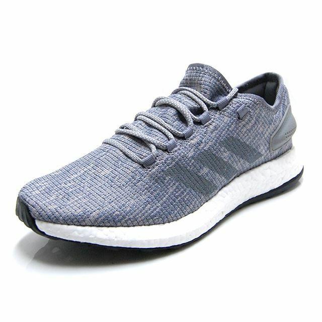 Adidas PureBOOST GREY ULTRA CLOUD WHITE CORE BLACK BB6278 Men's Running Boost