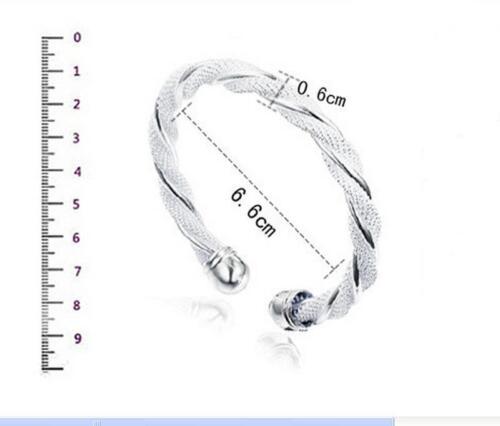 Wholesale Femmes Argent Sterling Plaqué Bracelet Fashion Jewelry Gift