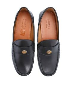 Gucci Men's Leather GG Driving Loafers Shoes Size 9 1/2 US Gucci 8 1/2 $620