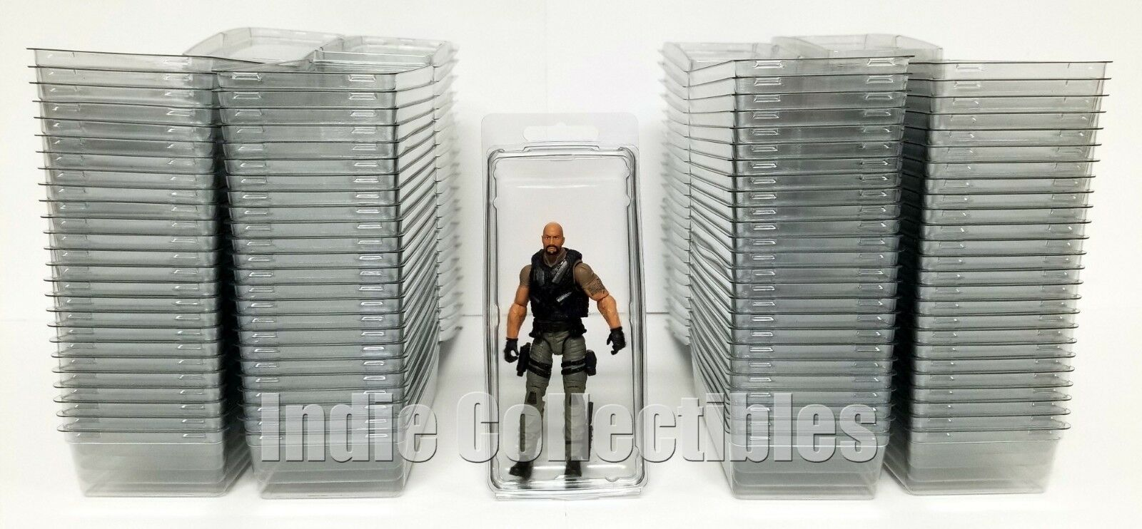 GI JOE BLISTER CASE LOT OF 100 Action Figure Display Protective Clamshell LARGE