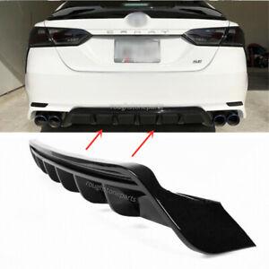 For 2018-2020 Camry SE XSE GT Shark Fin Glossy Black Rear Bumper Diffuser