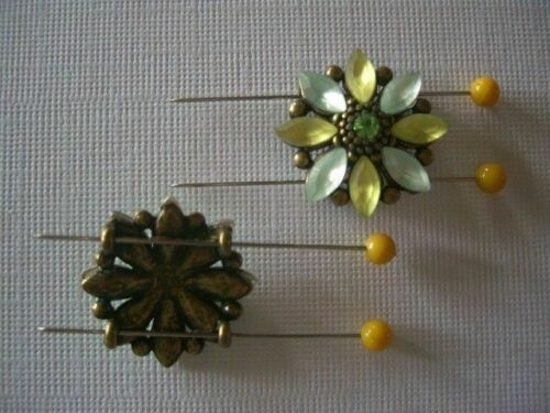 2 Hole Slider Beads 8-Petal Flower Olive Made with Swarovski Elements #4
