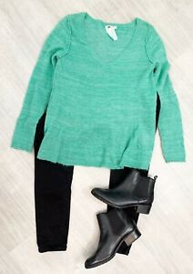White-Stuff-Jumper-Pull-Over-Green-Mint-Alpaca-Blend-winter-Sz-12-Autumn