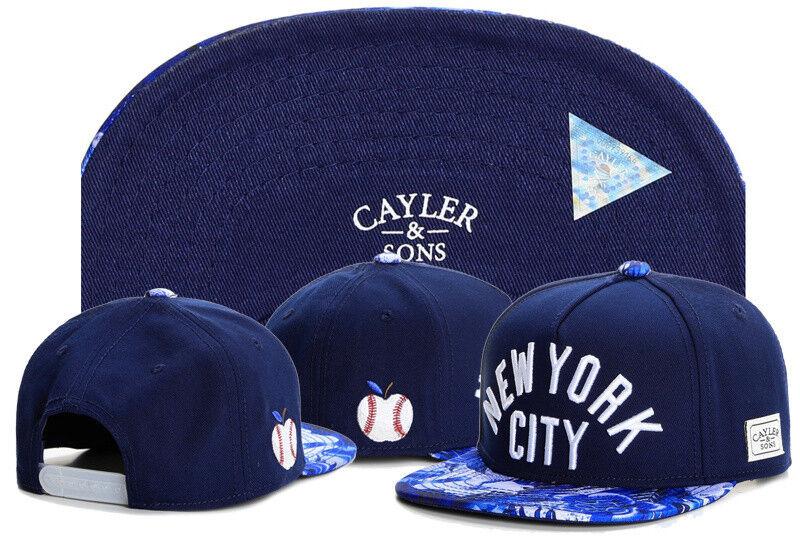 New Hip Hop Men's Baseball CAYLER Sons Hat adjustable Baseball Men's Snapback Cap Blue hat 71 db2e85