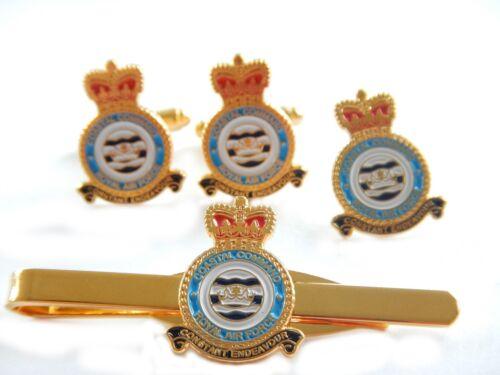 Lapel Badge Tie Clip Set or Individual RAF Coastal Command Cufflinks