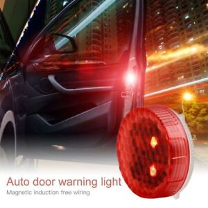 COPPIA-LED-AUTO-PORTA-APERTA-ALLARME-ANTI-COLLISIONE-LUCI-WIRELESS-MAGNETICO