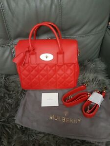fe0a5a6116 BNWT 100% genuine Mulberry Medium Cara Delevingne red quilted nappa ...