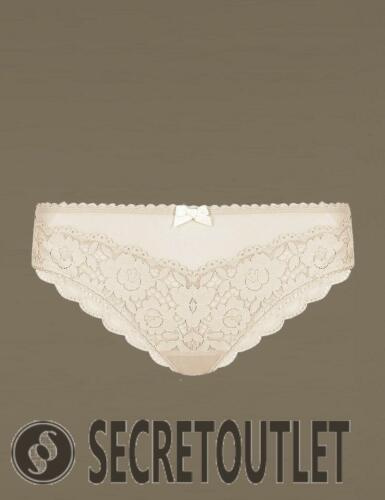 M/&S Limited Collection New Ladies Cream Floral Lace Low Rise Brazilian Knickers