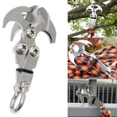Stainless Steel Gravity Grappling Hook Claw Cross Survival Folding Outdoor Climb