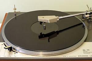 Gloss Black Acrylic Turntable Platter Mat Fits Lenco