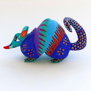 Details About Armadillo Wood Carving 5 Oaxacan Alebrije Mexican Folk Art Oaxaca Mexico