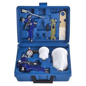 2-HVLP-Air-Spray-Gun-Kit-Auto-Paint-Car-Primer-Detail-Basecoat-Clearcoat