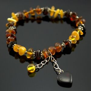 genuine baltic amber multicolour beads Natural amber bead bracelet