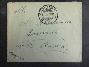 1924 Sanciai Litauen Abdeckung zu Bramwell USA