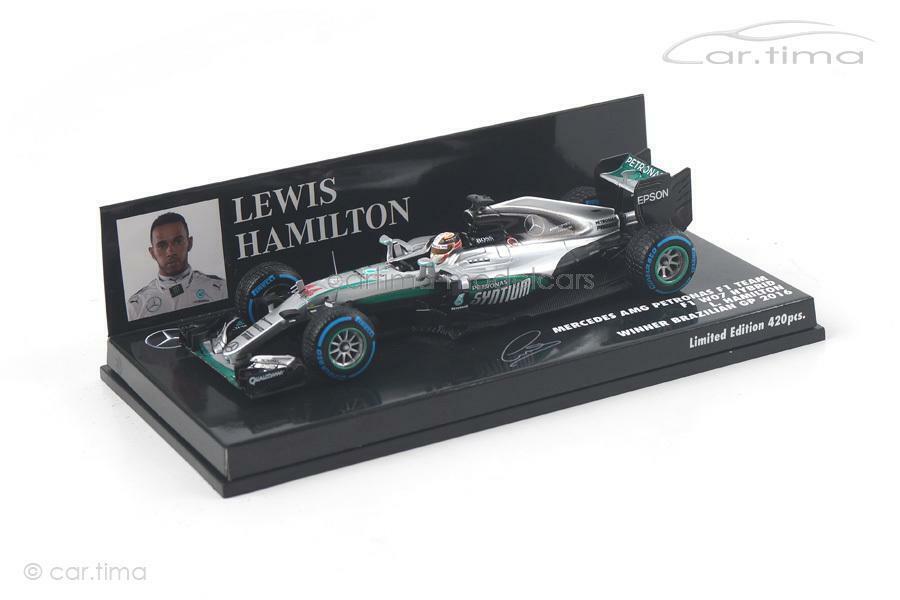 Mercedes AMG Petronas f1 w07-Winner Brazilian gp 2016-Hamilton-Minichamps