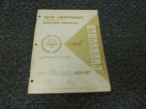 1972 johnson 50 hp models outboard motor shop service rh ebay com 50 HP Johnson Outboard Troubleshooting 50 HP Johnson Decals