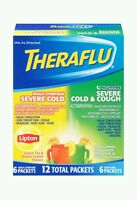 Theraflu Cold & Flu Relief Day/night Value Pack, Hot Liquid Powder, 12 Packets