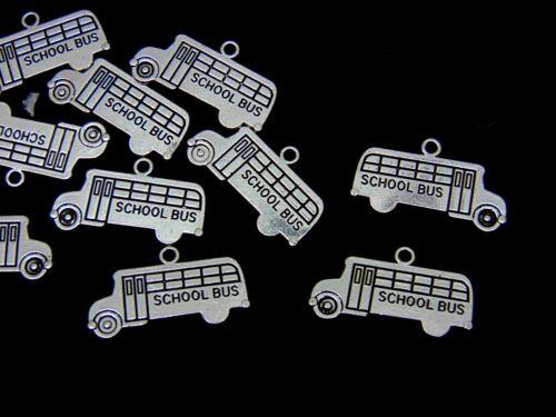 10 Pcs Tibetan Silver School Bus Teacher Charms Jewellery Leaving Gift Kids G72