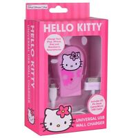 Vivitar Sanrio Hello Kitty 2.1a Dual Usb Wall Charger W/30-pin Dock Connector