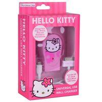 Vivitar Sanrio Hello Kitty 2.1a Dual Usb Wall Charger W/30-pin Dock Connector