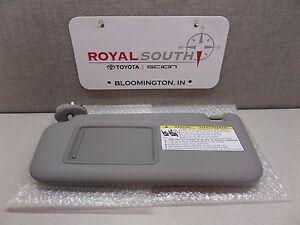 Toyota Rav4 2006 - 2009 Gray Driver Side Vinyl Sun Visor Genuine OEM ... 28ad34da051