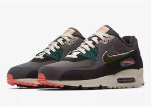 NEW Sz 8.5 Men s Nike Air Max 90 Premium SE Oil Grey Rainforest ... 01fa0221a