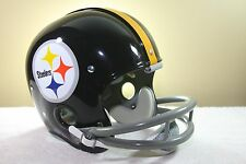 PITTSBURGH STEELERS Vintage Style Suspension RK Football Helmet Actual size logo