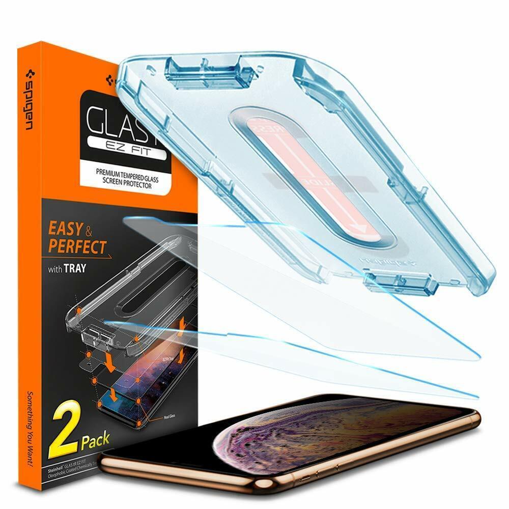 Spigen 2pezzi vetro temperato iphone 11 pro max//xs max 6.5 ez fit kit di