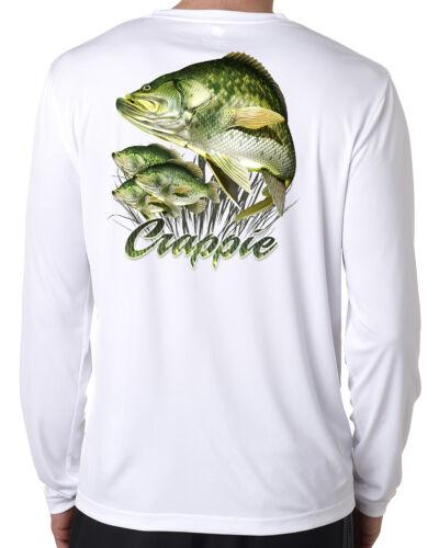 uv Dixie Land Outdoors Crappie Microfiber long sleeve fishing t shirt 50