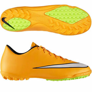 100% high quality official supplier temperament shoes Details about NIKE MERCURIAL VICTORY V TF INDOOR SOCCER TURF FUTSAL CR7  SHOE Laser Orange