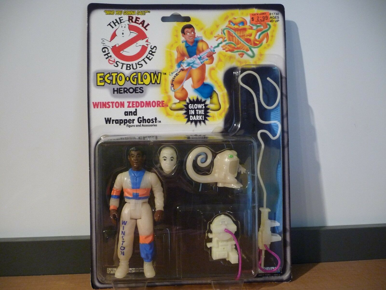 MOC The Real Ghostbusters Ecto-Glow Heroes Winston Zeddmore 1994