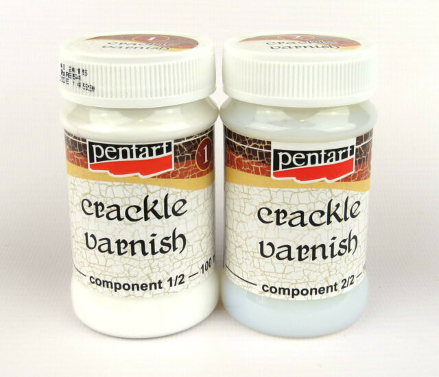 Pentart Crackle Medium Classic, varnish Two-Components 2x100ml set