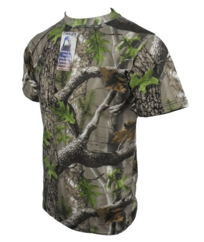 Stormkloth Trek Camouflage Army Short Sleeve T Shirt Hunting Fishing Camo Top