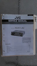 JVC ks-r11 service manual original repair book stereo car radio tape deck player